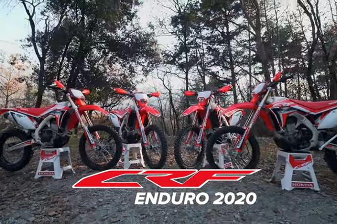 Honda CRF 2020 para enduro!