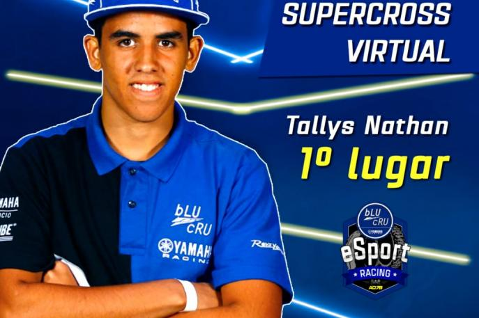 Tallys Nathan vence disputa de Supercross virtual