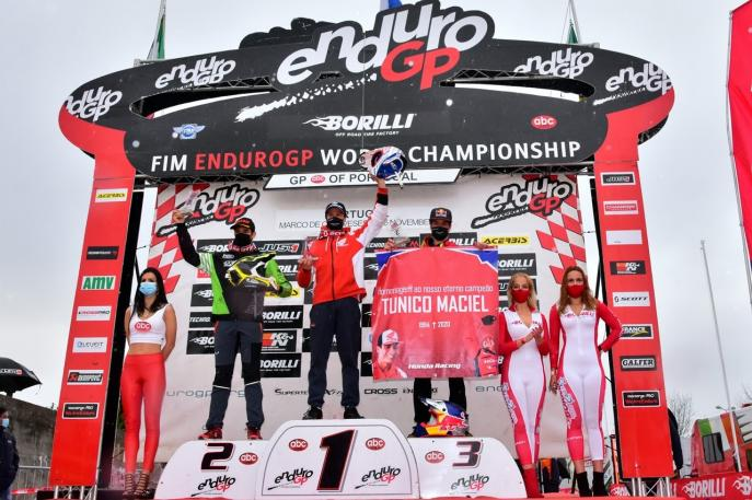 Bruno Crivilin sobe ao pódio mais uma vez no Mundial de Enduro em Portugal