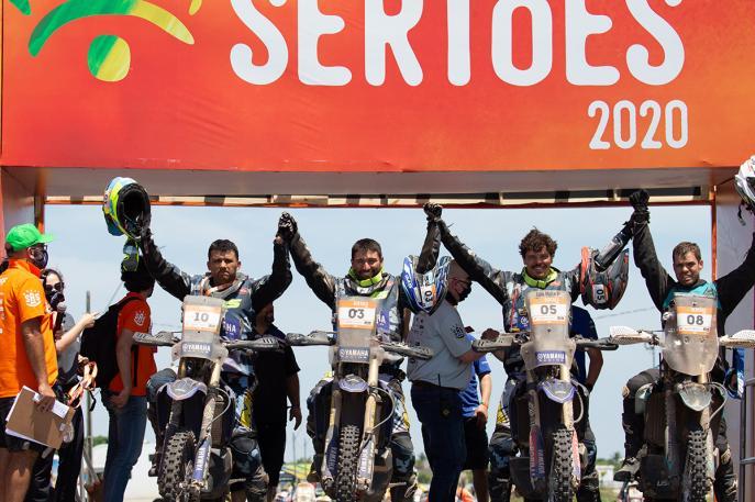 Yamaha é campeã do Sertões 2020 com Ricardo Martins