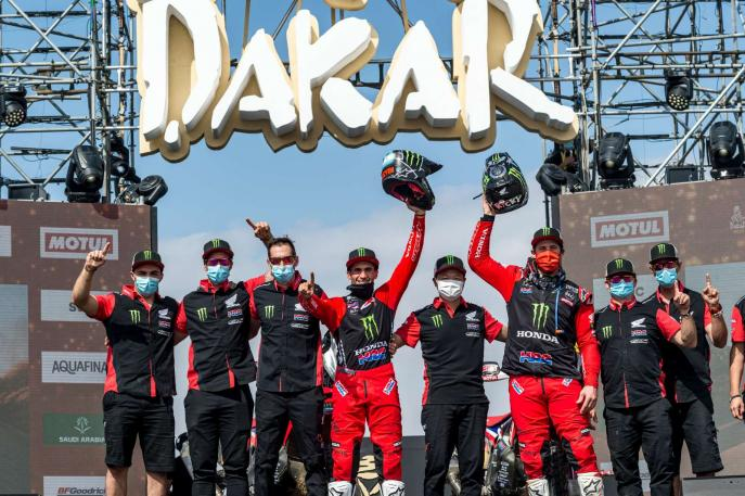 Honda comemora dobradinha no Rally Dakar 2021