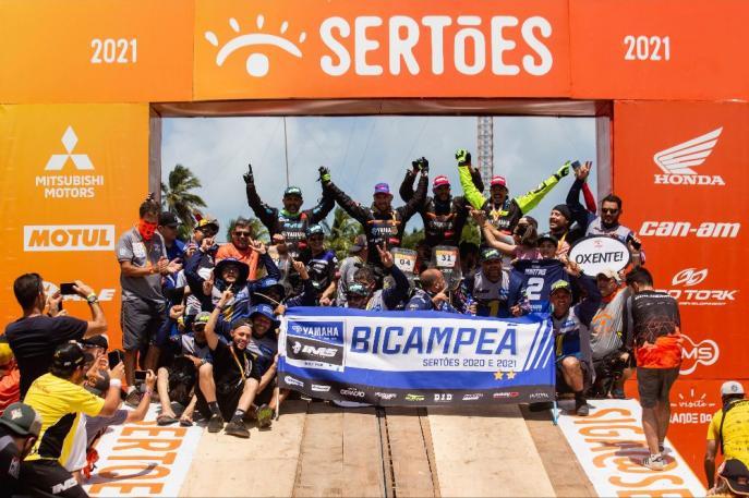 Yamaha é Bicampeã do Sertões e vence etapa do Mundial