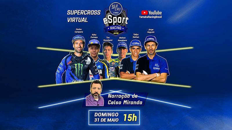 Corrida virtual com pilotos Yamaha aquece volta do AMA Supercross 2020
