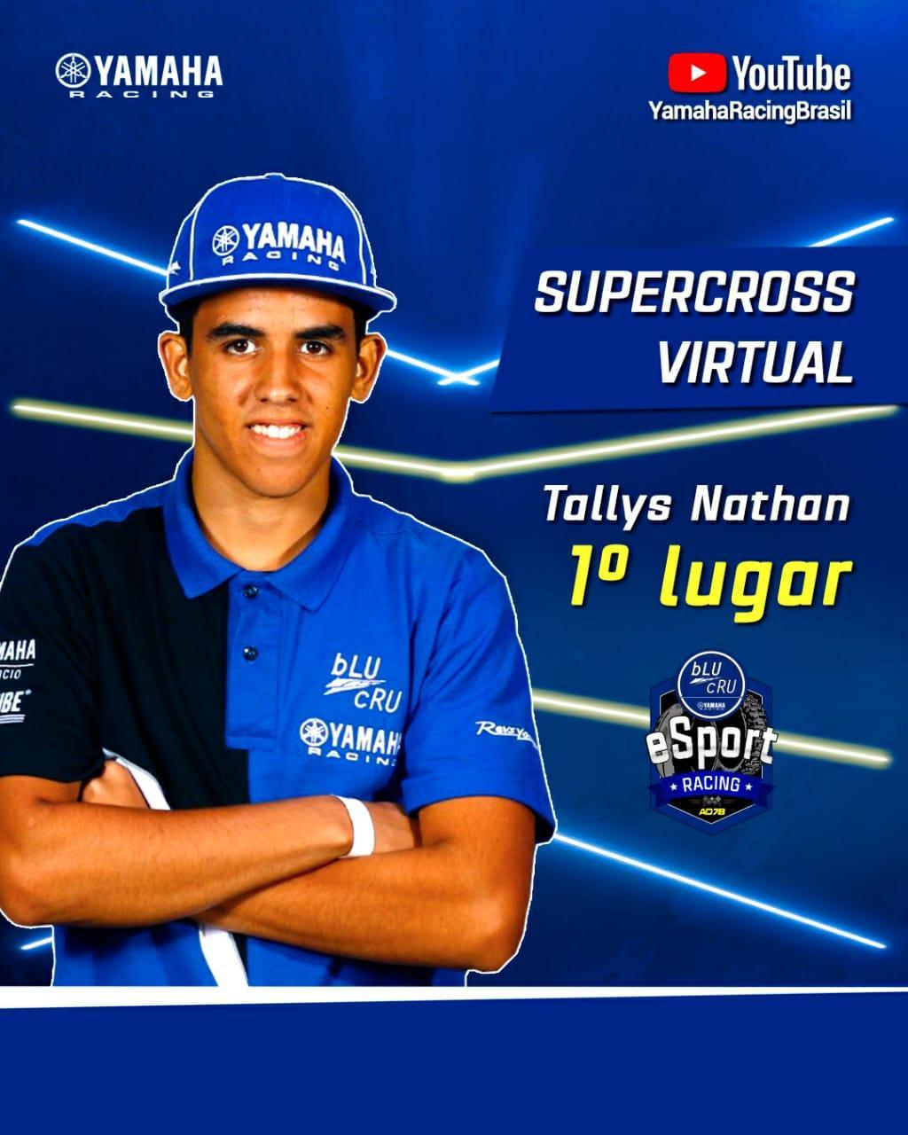 Tallys Nathan vence disputa de Supercross virtual